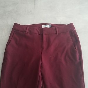 New Womens Burgundy Dress Pants Old Navy 4R Red